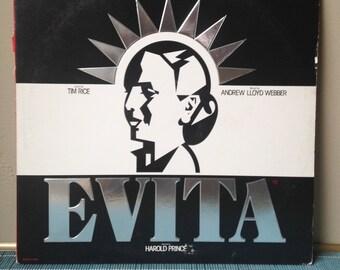 Evita Musical Andrew Lloyd Webber Tim Rice LP vintage record music 1970s seventies 70s broadway mandy patinkin