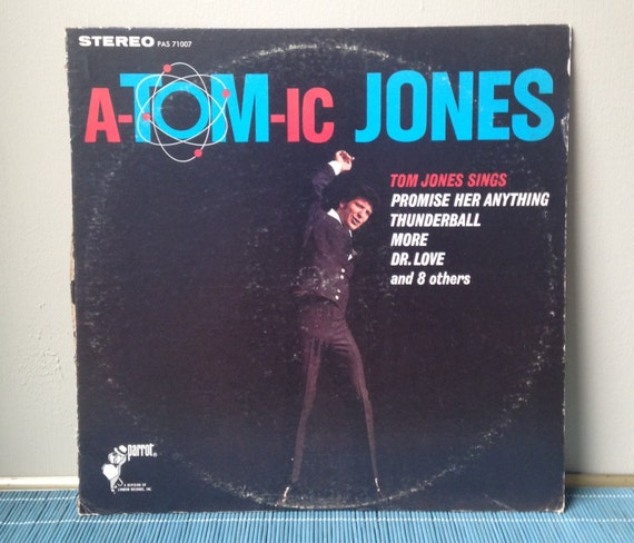 Atomic Jones Tom Jones Lp Vintage Record Rock Pop Music 1960s
