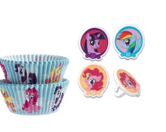 My Little Pony Baking Cups with My Little Pony Rings