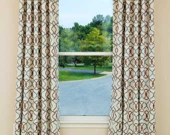 Custom Drapes- Pinch Pleat Drapes, Lattice Drapery, Curtains, Drapery Panels, Window Treatments, Made-to-Order, Poly-Cotton-Linen, *Royal*