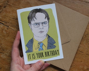 The Office Dwight Schrute Birthday Card