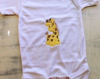 Baby giraffe short sleeve long sleeve onesie