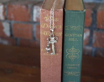 Vintage Key and Crystal Necklace