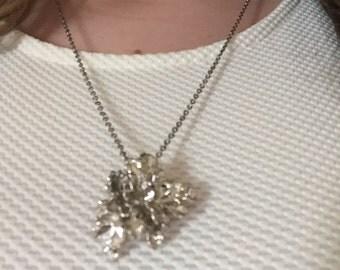 Vintage Silver Coral Necklace