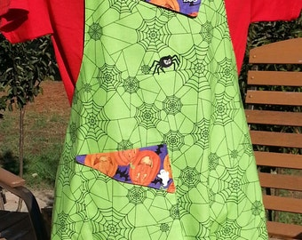 Embroidered Full Halloween Apron