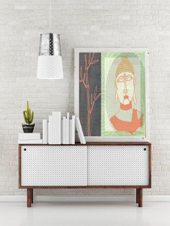 Zen Buddha Art Print Zen Home Decor Zen Wall By Fatdragonfly