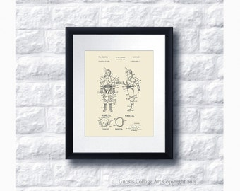 Outer Space Decor Poster Patent Art no.A4 Space Suit Wall Art Print, Boys Room Home Decor, Astronaut Art, Sci-Fi Decor, Outer Space Wall Art