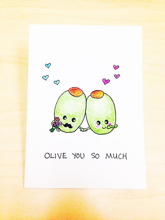 card, Funny love card, I love you card, Olive you so much, funny ...