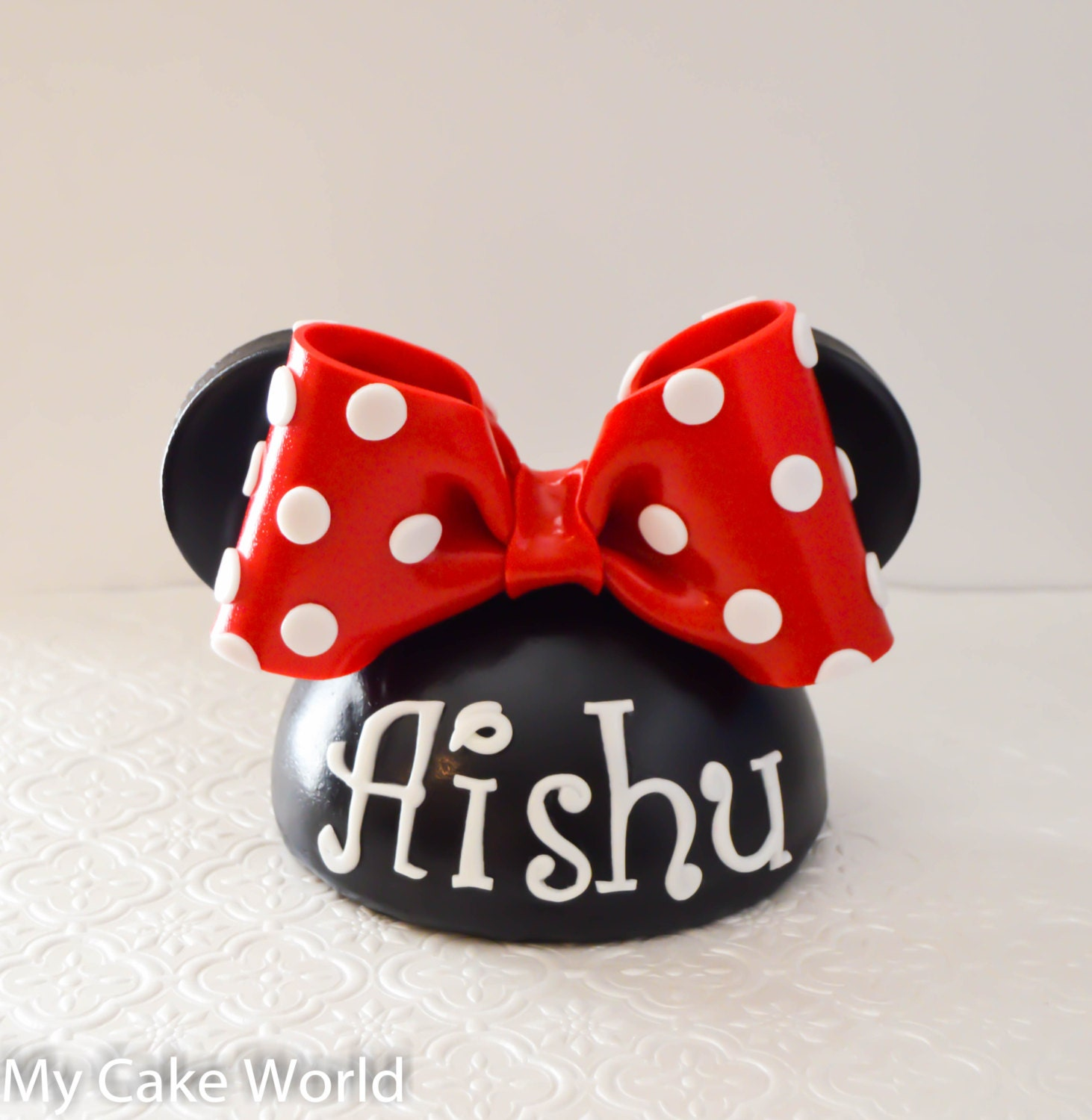 Minnie Mouse Cake Topper Images : Minnie mouse hat cake topper Minnie mouse hat by ...