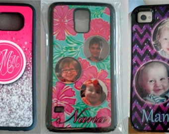 Customized Phone case with Monogram or Photo - for iPhone 4, 4s, 5, 5s, 5c, 6, 6+ , Samsung S3, S4, S5, S6, S6 edge , Galaxy Note 1, 2, 3, 4