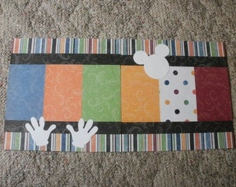 Disney 2  Premade 12 x 12 Scrapbook Pages Layout