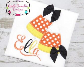 Candy Corn Appliqué Machine Embroidery Design, Candy, Girl, Boy, Turkey, Pumpkin, Ghost, Cat  Thanksgiving, Halloween, 4x4, 5x7, 6x10, 9x9