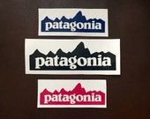 1x Patagonia Logo Inspired Vinyl Mountain Decal / Sticker - Waterproof, for cars, laptops, any flat surface! 34 Colors!
