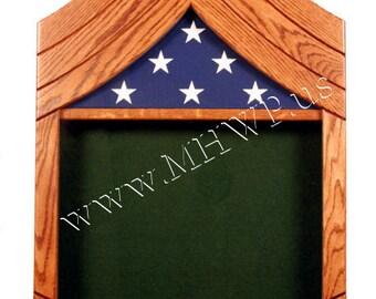 Army Sergeant First Class (E7) Shadow Box - 5x8 Flag
