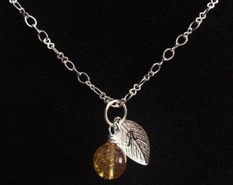 Personalized November Birthstone Necklace OR Bracelet