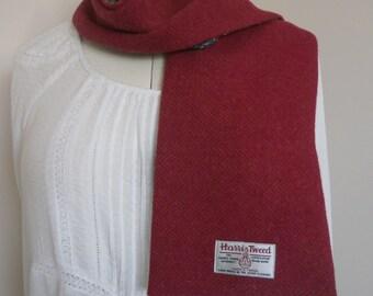Scarf - Harris tweed/ Liberty of London scarf, handmade