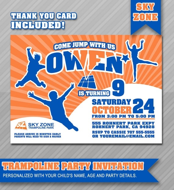 Trampoline Party Invitations: Trampoline Party Invitation Bounce House By WolcottDesigns