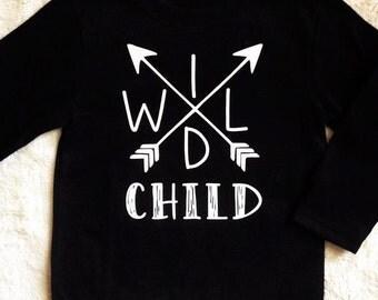 Wild Child long sleeve graphic tee baby/toddler/kids