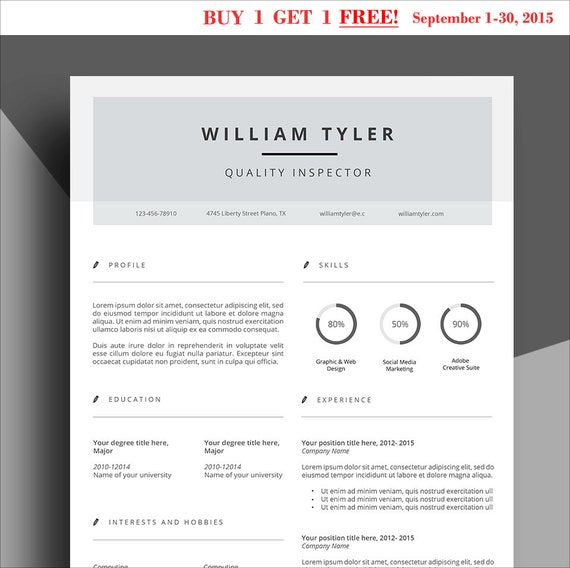 buy 1 get 1 free all items resume template cv template professional resume cover letter