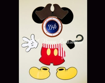 Pirate Mickey Mouse Magnet for Disney Cruise Door