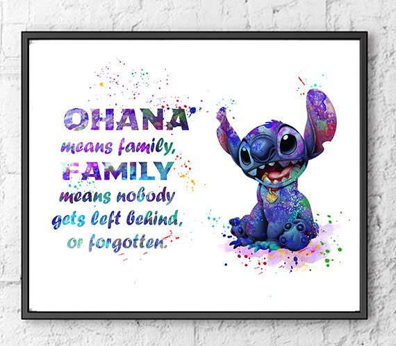 Stitch Watercolor Print Lilo And Stitch Disney By