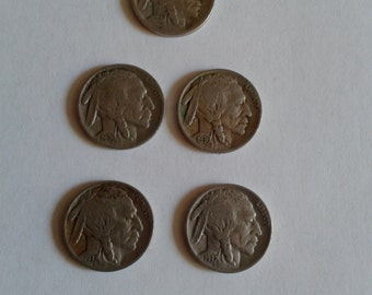 Indian Head Nickels********  2 of 1936; 2 of 1937; 1 of 1923  ( Lot of 5)