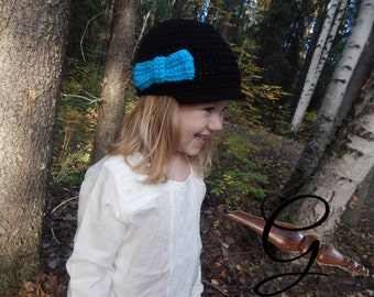 Newsboy Hat with Bow