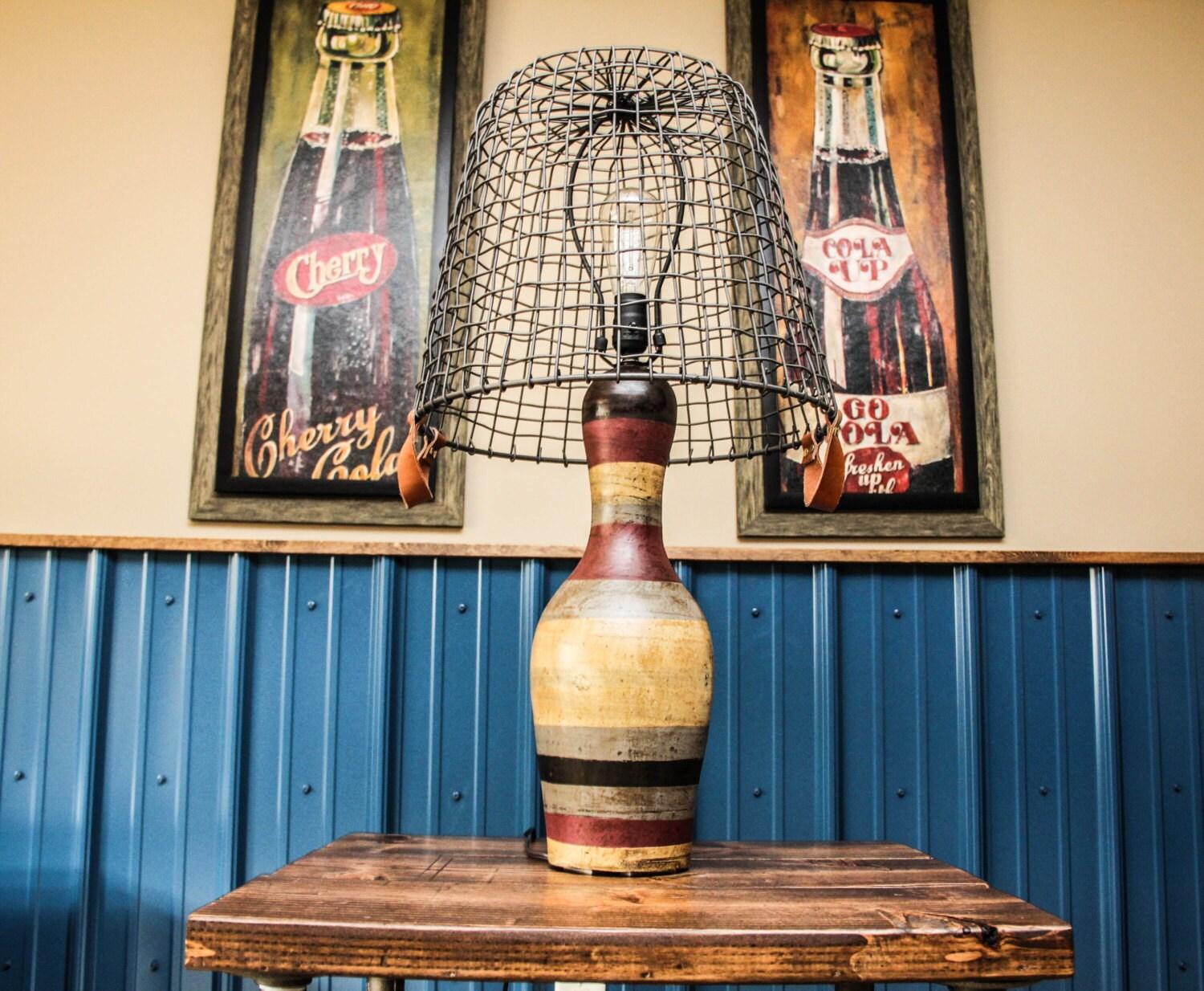 Industrial Bowling Pin Lamp Industrial By Bcindustrialtreasure