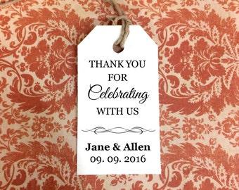 Editable Tags ~ SMALL ~ DIY Printable Favor Tags ~ Custom Gift Tags ~ Wedding Tags
