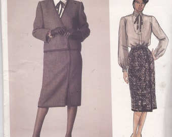 Vogue 1435 American Designer Pattern John Anthony  Jacket, Top, and Skirt Size 12 UNCUT
