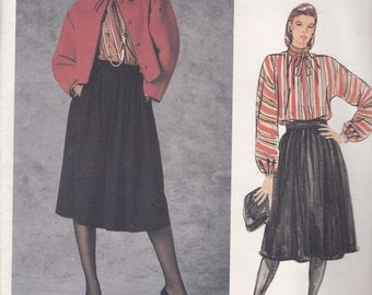 Vogue 1430 Vintage Pattern American Designer Geoffrey Beene - Womens  Jacket, Top, and Skirt Size 12 UNCUT