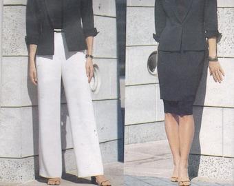 Vogue 2390 American Designer Pattern Anne Klein Jacket, Pants and Skirt Size 6,8,10 UNCUT