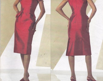 Vogue 2943 Belville Sassoon Vintage Pattern Womens Close Fitting Lined Dress Size 4,6,8 UNCUT