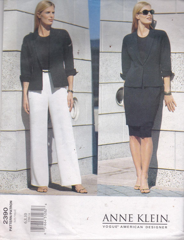 Vogue 2390 patrón diseñador americano Anne Klein chaqueta