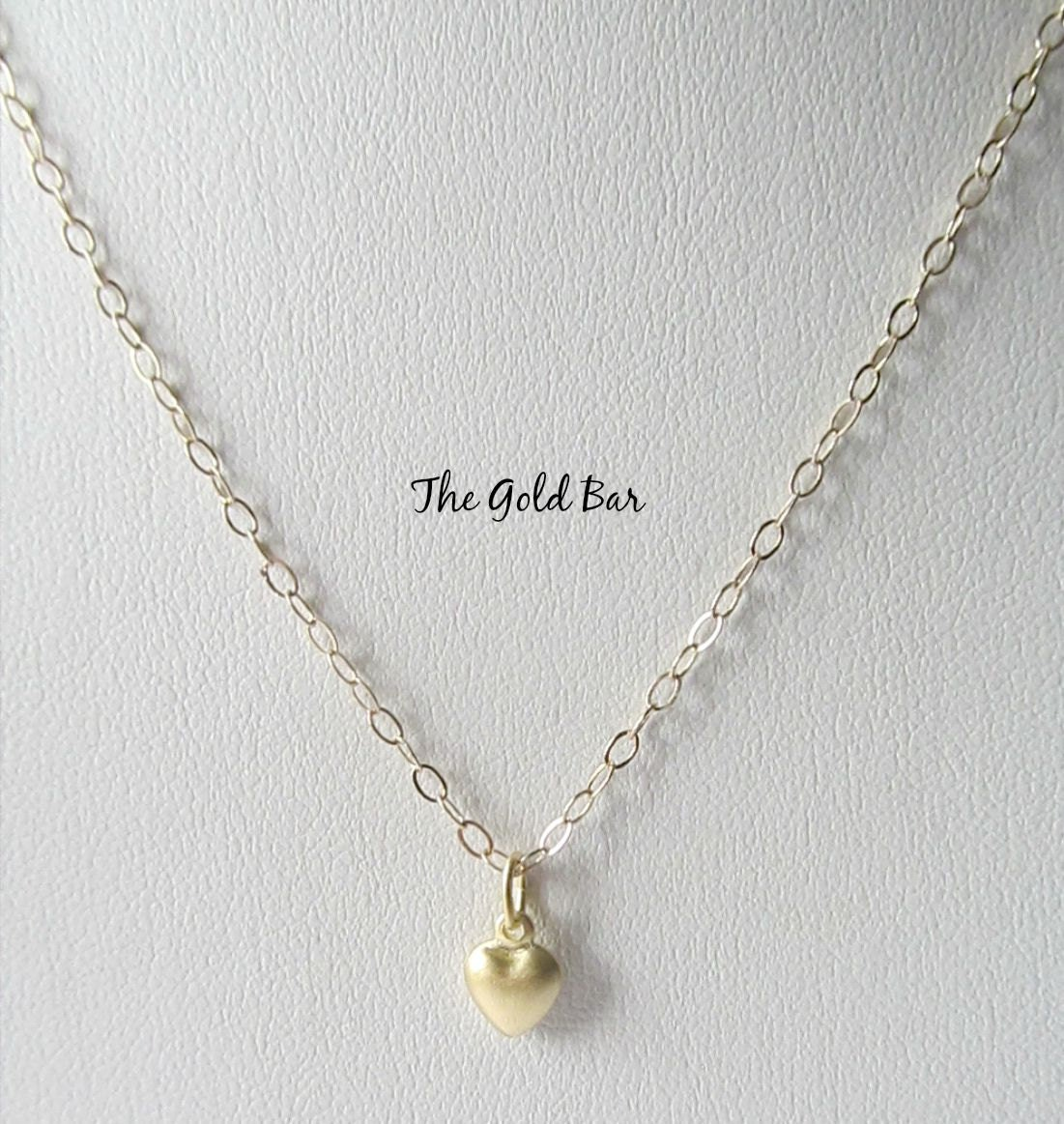tiny heart necklace gold heart necklace little girl jewelry. Black Bedroom Furniture Sets. Home Design Ideas