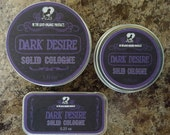 "Handmade Solid Cologne -- ""Dark Desire"" Masculine Cologne"