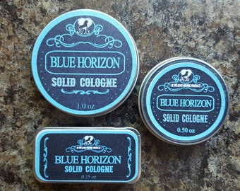 """All Natural Solid Cologne -- """"Blue Horizon"""" A Light, Fresh, Clean Scented Men's Cologne"""