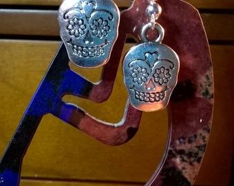 Silver Day of the Dead Earrings