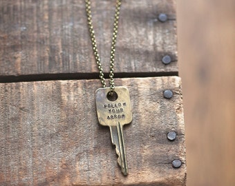 FOLLOW YOUR ARROW Key Necklace | repurposed