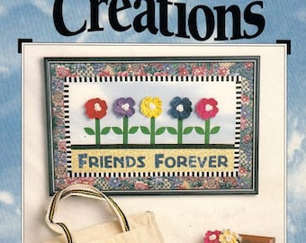 """No Sew Applique """"Bloomin' Creations"""" by Jean Wells, Fabric Decoration Pattern, Fabric Appliqué Patterns, Fabric Fusing Patterns"""