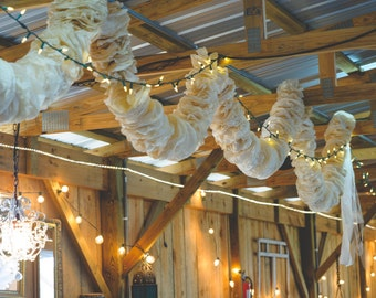 Coffee filter stained Wedding and celebration garlands, custom colors available