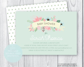 Baby Shower Invitation Neutral - Printable