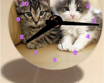 Kittens CD Clock
