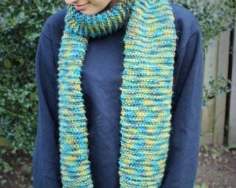 Blue/Yellow/Green Scarf