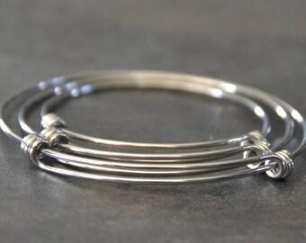 Bangle Bracelet-Expandable Stainless Steel Bangle Bracelet-Charm Bracelet-Wholesale Expandable Bangle-10 Pack Bangles