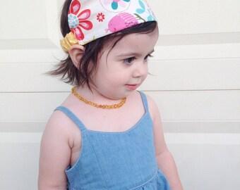 Scarf Headband,birds,headband, accesories,shower gift, gifts under 20 dollars