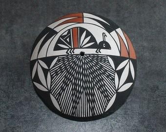Vintage Acoma Pueblo Pottery Seed Pot by Vivian Seymour Native American Pottery