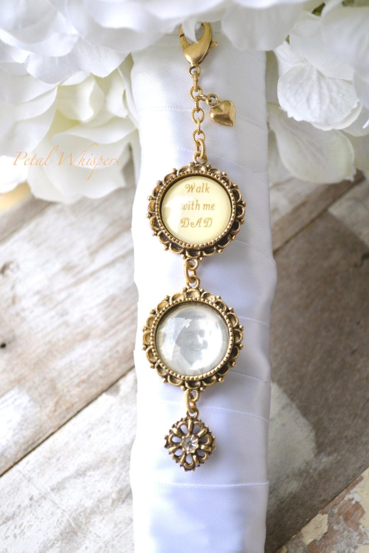 gold bouquet charm bridal bouquet charm bridal gift