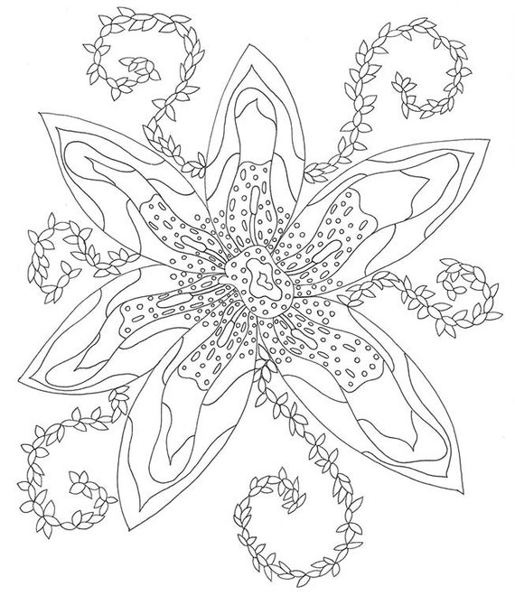 Lily coloring book pages ~ Lily Coloring Page Flower Coloring Page Coloring by ...