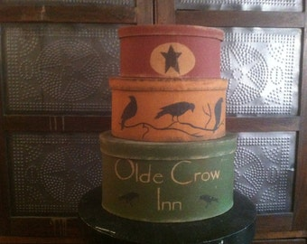 Primitive Crows Stacking Boxes